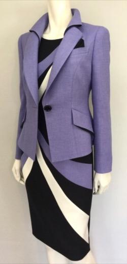 【ナイトドクター】真矢みき(桜庭麗子) ドラマ衣装紫のジャケット・ワンピース