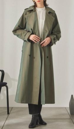 Night Doctor(ナイト・ドクター)岡崎紗絵 ドラマ衣装グリーンのトレンチコート