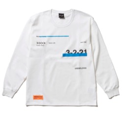 ナイトドクター岸優太 ドラマ衣装【岸優太】白い長袖ロゴTシャツ