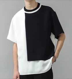 リコカツ・白洲迅白黒の半袖Tシャツ