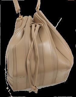 【再雇用警察官2】高島礼子(内山五月)ドラマ衣装ベージュの巾着バッグ