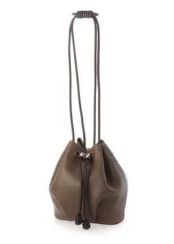 【再雇用警察官2】高島礼子(内山五月)ドラマ衣装ブラウンの巾着バッグ