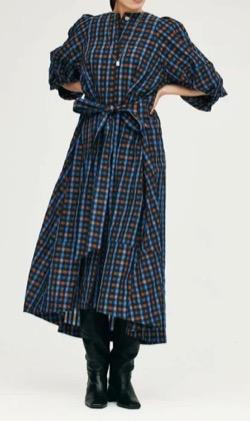 笑ってコラえて佐藤栞里衣装ネイビーチェックのワンピース