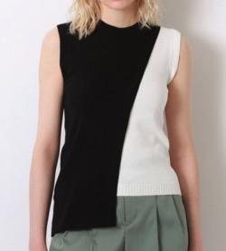 【ゼロイチ】指原莉乃(さっしー)さん衣装黒と白の配色ノースリーブベスト