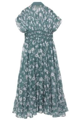 【ゼロイチ】指原莉乃(さっしー)さん衣装グリーンの花柄半袖ワンピース
