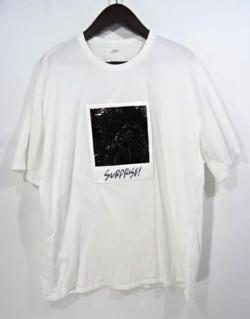 MUSIC BLOOD・田中圭・千葉雄大ホワイトのプリントTシャツ