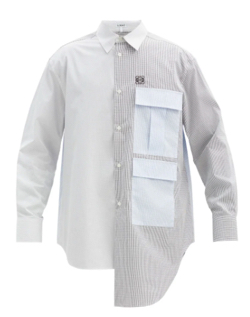 MUSIC BLOOD・田中圭・千葉雄大ホワイトxグレーのアシメシャツ