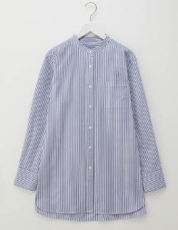 #家族募集します・木村文乃ライトブルーのストライプシャツ
