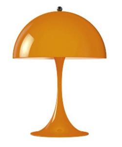 家族募集します・インテリアオレンジのアンブレラ型テーブルランプ
