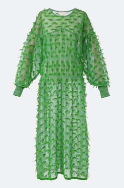 ボクの殺意が恋をした・新木優子衣装グリーンのシアーワンピース