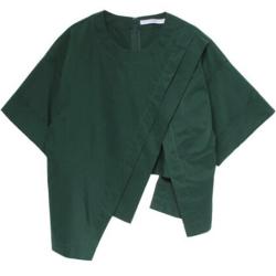 ボクの殺意が恋をした・新木優子衣装グリーンのアシメデザインシャツ