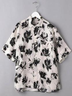 ボクの殺意が恋をした・中川大志ホワイトのボタニカルプリントシャツ