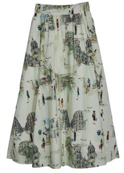 ボクの殺意が恋をした・田中みな実ドラマ衣装ライトベージュのプリントスカート