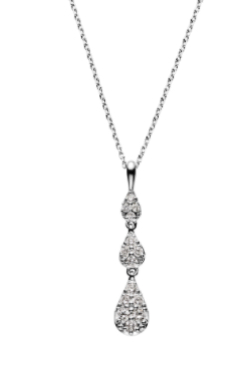 TOKYOMER・仲里依紗(高輪千晶)ドラマ衣装シルバーのダイヤモンドネックレス