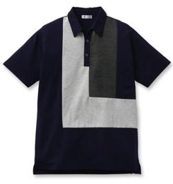 ボクの殺意が恋をした・中尾明慶・永田崇人ネイビーのパッチワークポロシャツ