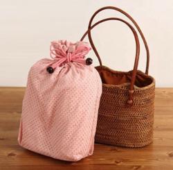 ボクの殺意が恋をした・新木優子衣装ブラウンxピンクのカゴバッグ