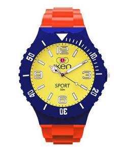 ボクの殺意が恋をした・中尾明慶・永田崇人衣装オレンジxブルーxイエローの腕時計