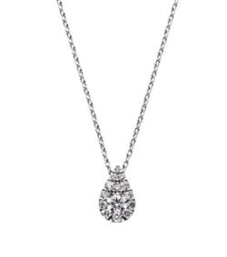 TOKYOMER・仲里依紗(高輪千晶)ドラマ衣装ダイヤのドロップ型ネックレス