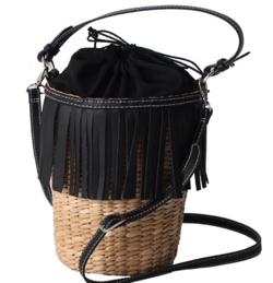 女の戦争・葵わかな・トリンドル玲奈・北原里英ブラックのカゴバッグ