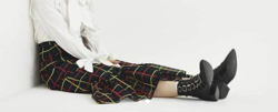 彼女はキレイだった衣装・片瀬那奈/村瀬紗英・山田桃子・寒川綾奈ブラックのカラフルチェックスカート
