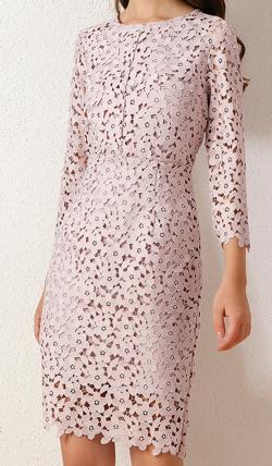 彼女はキレイだった(かのきれ)宇垣美里ドラマ衣装ライトピンクの花柄刺繍ワンピース