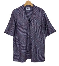 プロミスシンデレラ・二階堂ふみドラマ衣装チャコールグレーのグレンチェックシャツ