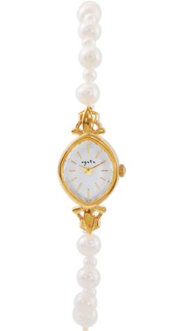 彼女はキレイだった(かのきれ)宇垣美里ドラマ衣装ゴールドxパールの腕時計