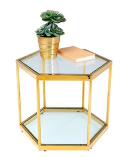 プロミスシンデレラ・インテリアゴールドxグラスのコーヒーテーブル