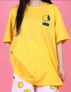 ハコヅメ・永野芽郁衣装イエローのレモン刺繍Tシャツ
