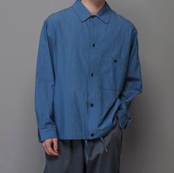 推しの王子様(おしプリ)・瀬戸利樹・藤原大祐・谷恭輔ドラマ衣装ブルーのロングシャツ
