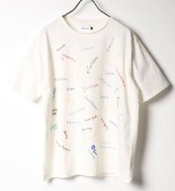 推しの王子様(推しプリ)・白石聖・佐野ひなこ・徳永えり・宮司愛海ドラマ衣装ホワイトのロゴTシャツ