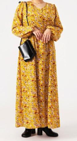 【家族募集します】丸山礼ドラマ衣装イエローの小花柄ワンピース