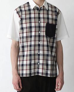 【家族募集します】重岡大毅・仲野太賀ドラマ衣装ホワイトxベージュのチェック柄シャツ