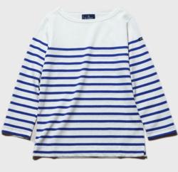 #家族募集します・木村文乃衣装ホワイトxブルーのボーダーTシャツ