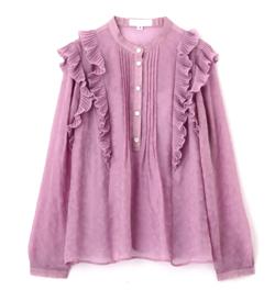 ZIP!・石川みなみ衣装ピンクのフリルシャツ