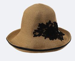 ボクの殺意が恋をした・田中みな実ドラマ衣装ブラックラインの麦わら帽子