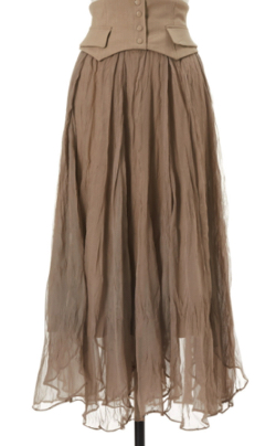 ZIP貴島明日香衣装ブラウンのスカート