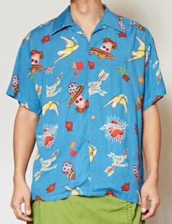 イタイケに恋して菊池 風磨 ・渡辺大知・アイクぬわらブルーのアロハシャツ