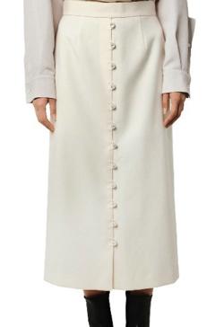 プロミスシンデレラ・松井玲奈・松村沙友理衣装ホワイトのボタンデザインスカート