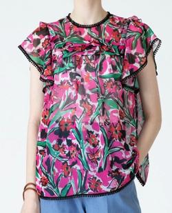 彼女はキレイだった衣装・片瀬那奈/村瀬紗英・山田桃子・寒川綾奈・吉田莉桜ピンクのフラワープリントブラウス