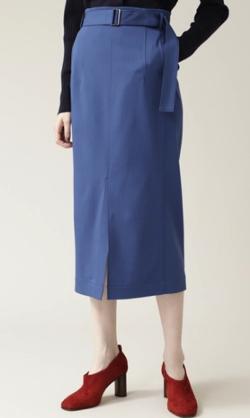ZIP!水卜麻美 (みとちゃん)衣装ブルーのタイトスカート