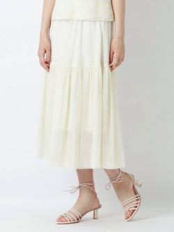 ZIP貴島明日香衣装ホワイトのティアードスカート