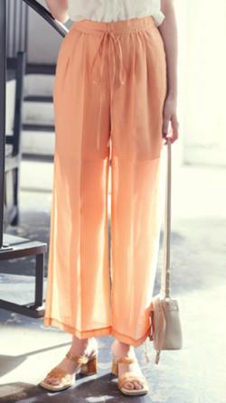 ZIP貴島明日香衣装オレンジのシアーパンツ
