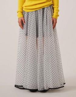 イタイケに恋して・石井杏奈衣装バイカラードットチュールスカート