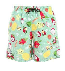イタイケに恋して・石井杏奈衣装ライトグリーンのフルーツ柄ショートパンツ