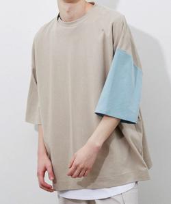 プロミスシンデレラ・眞栄田郷敦衣装ベージュのBIGシルエットTシャツ