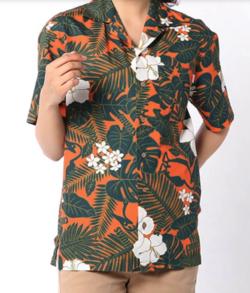 イタイケに恋して菊池 風磨 ・渡辺大知・アイクぬわらオレンジxグリーンのアロハシャツ