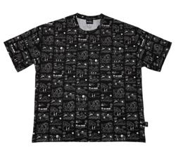 イタイケに恋して菊池 風磨 ・渡辺大知・アイクぬわらブラックの総柄ビッグTシャツ