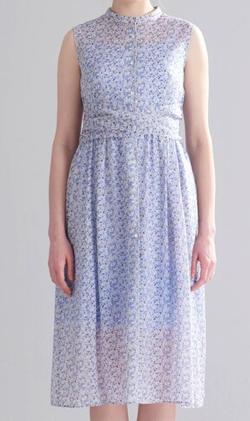 めざましテレビ永尾亜子衣装ブルーの小花柄ワンピース