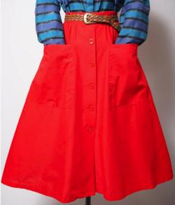 イタイケに恋して・石井杏奈衣装オレンジのフレアスカート